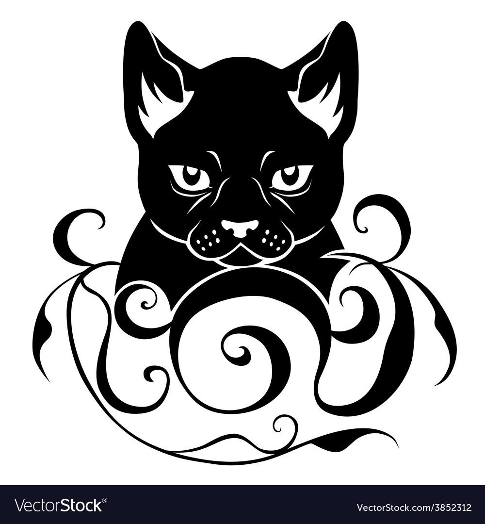 Cat face decoration