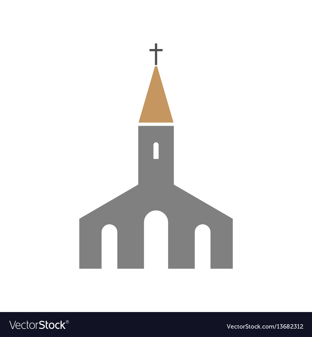 Church icon religion building symbol vector image