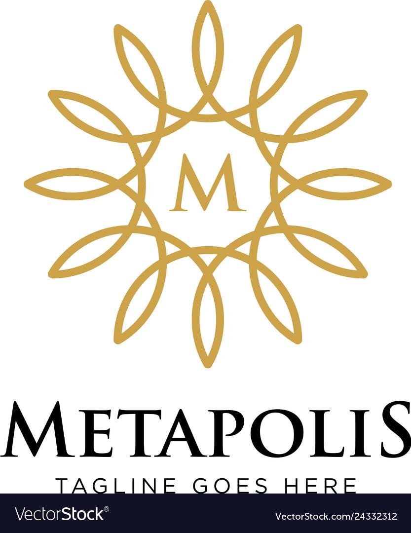 Elegant flower logo design