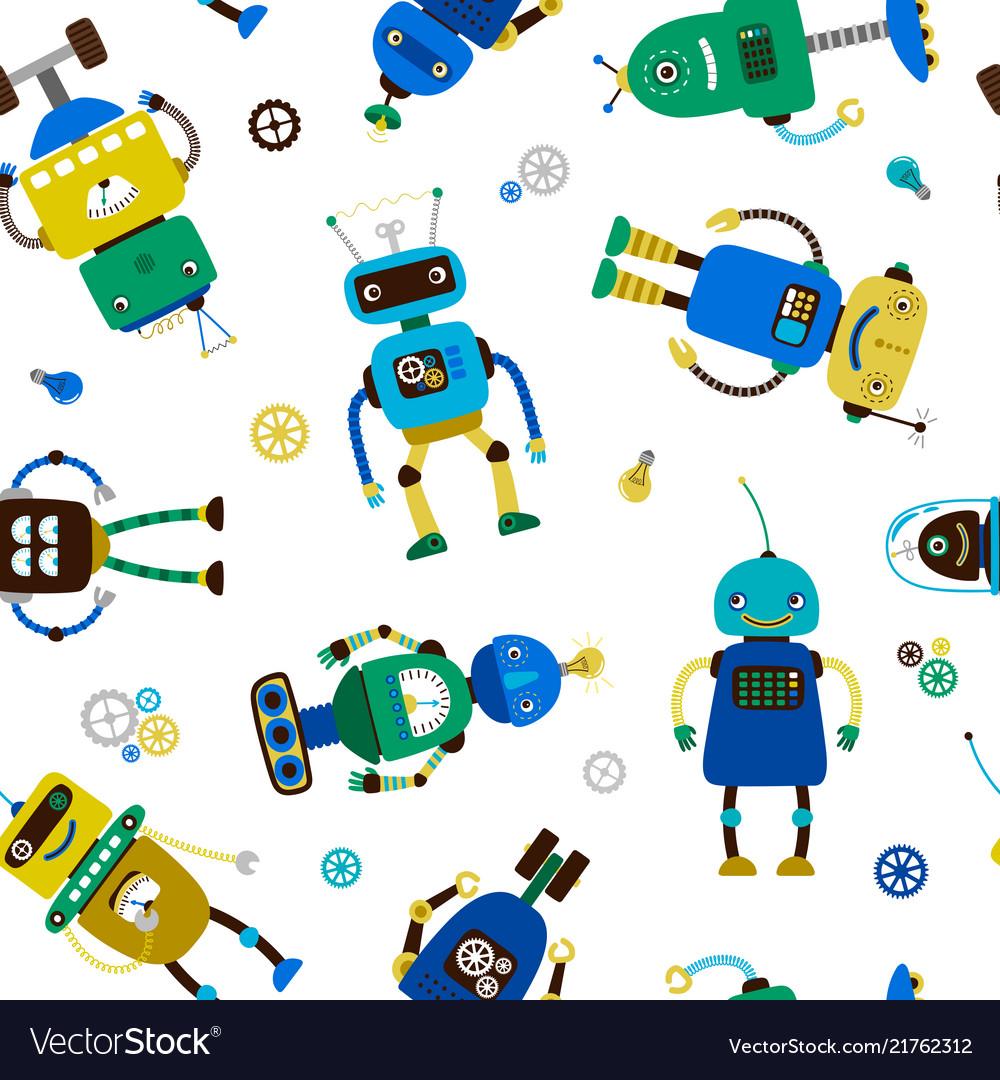 Funny robots pattern