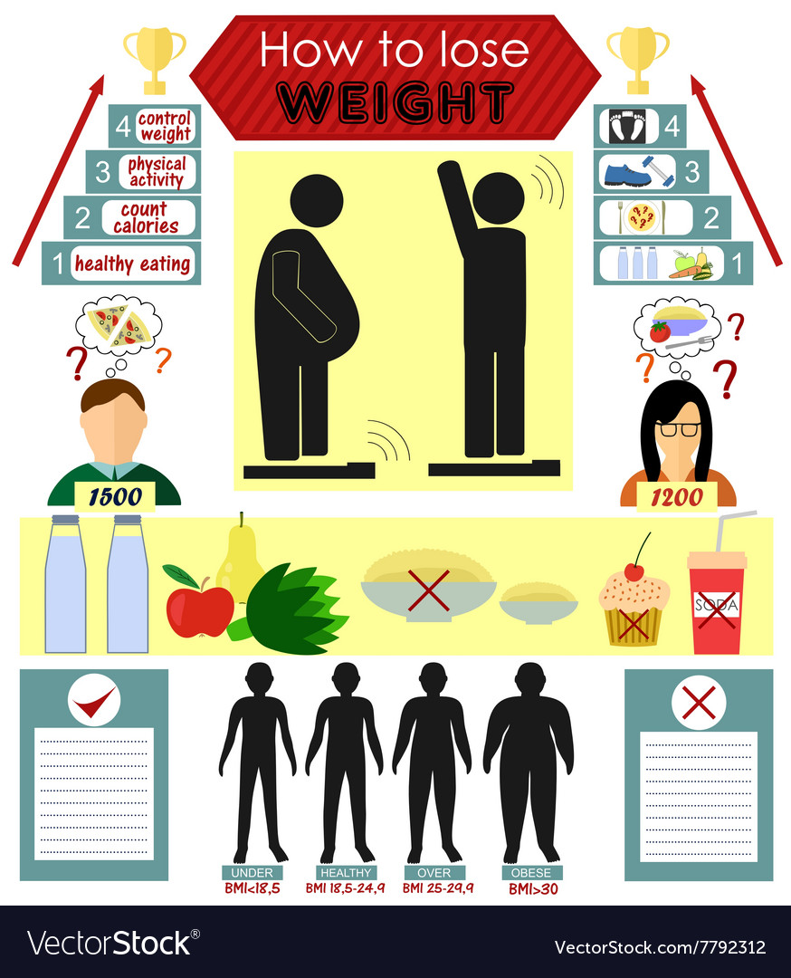 Infographics on how to lose weight