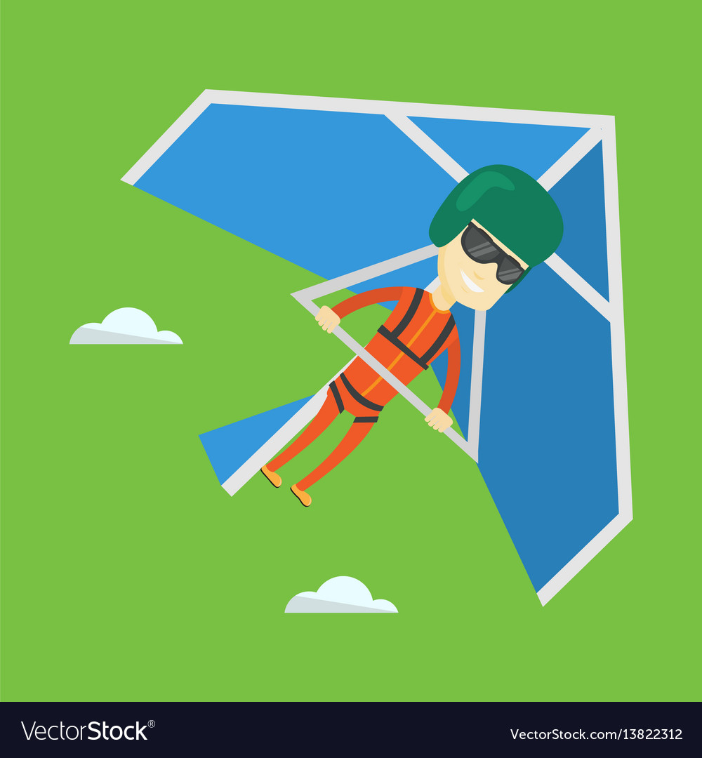 Man flying on hang-glider