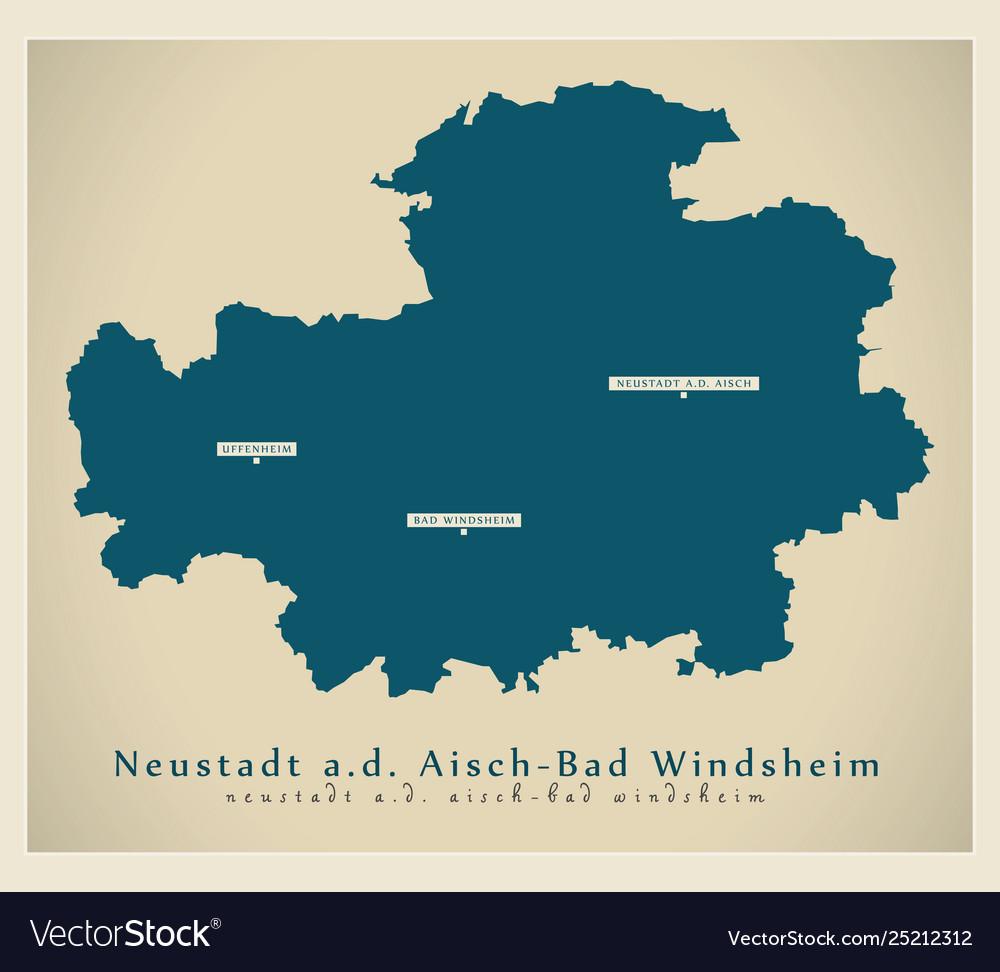 Modern Map Neustadt Aisch Bad Windsheim