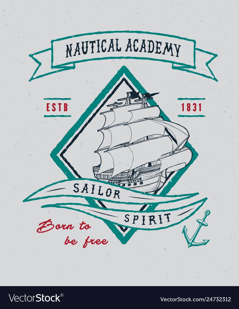 Nautical academy handmade ship