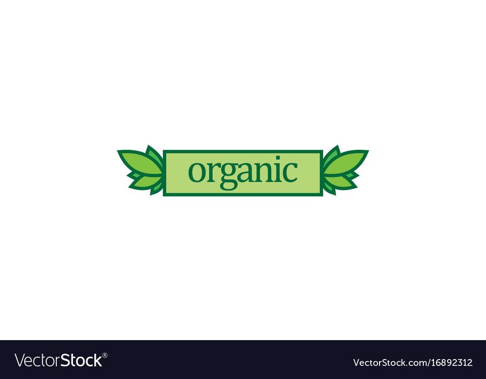 Organic label nature logo