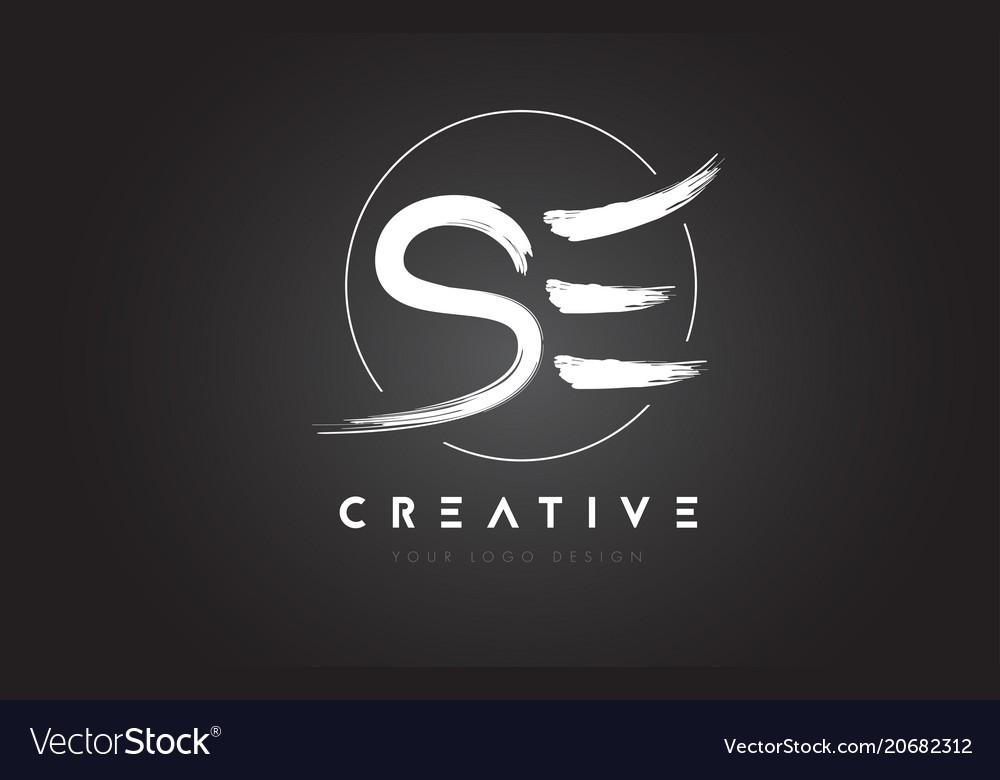Se brush letter logo design artistic handwritten