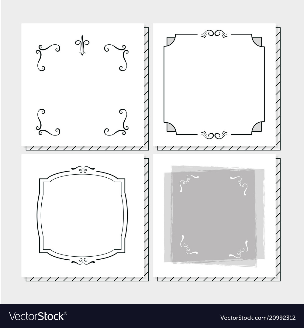 Set frames hand draw