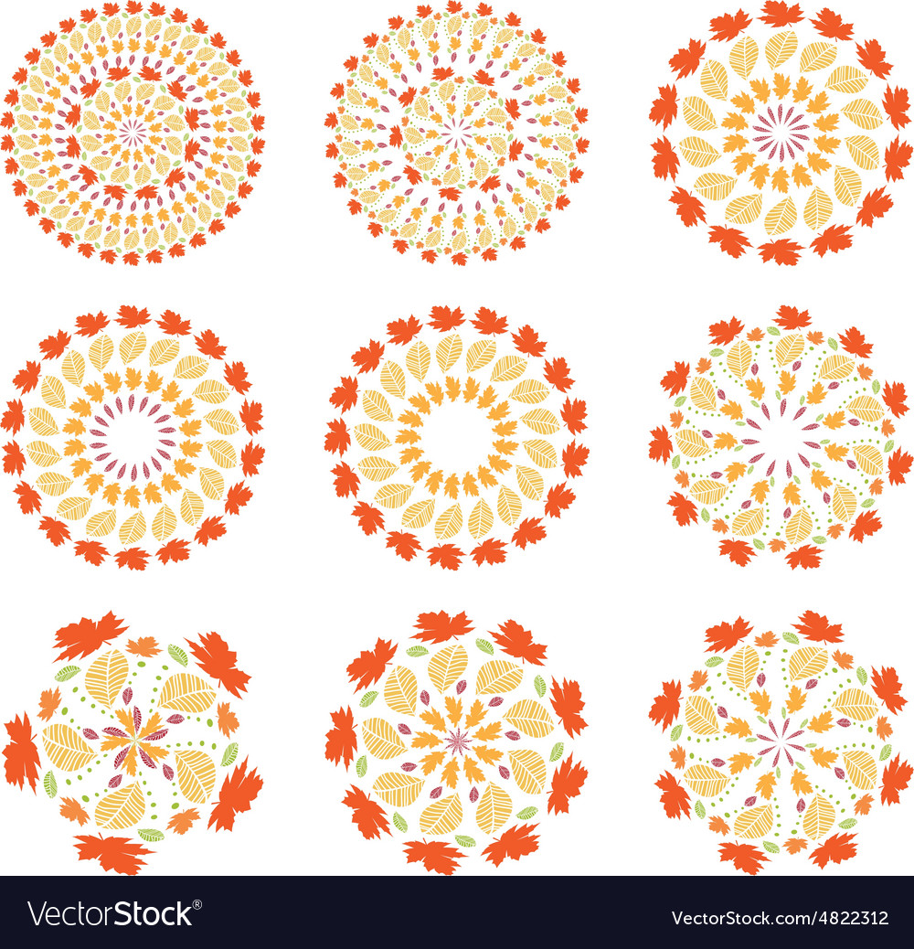 Set of autumn mandalas