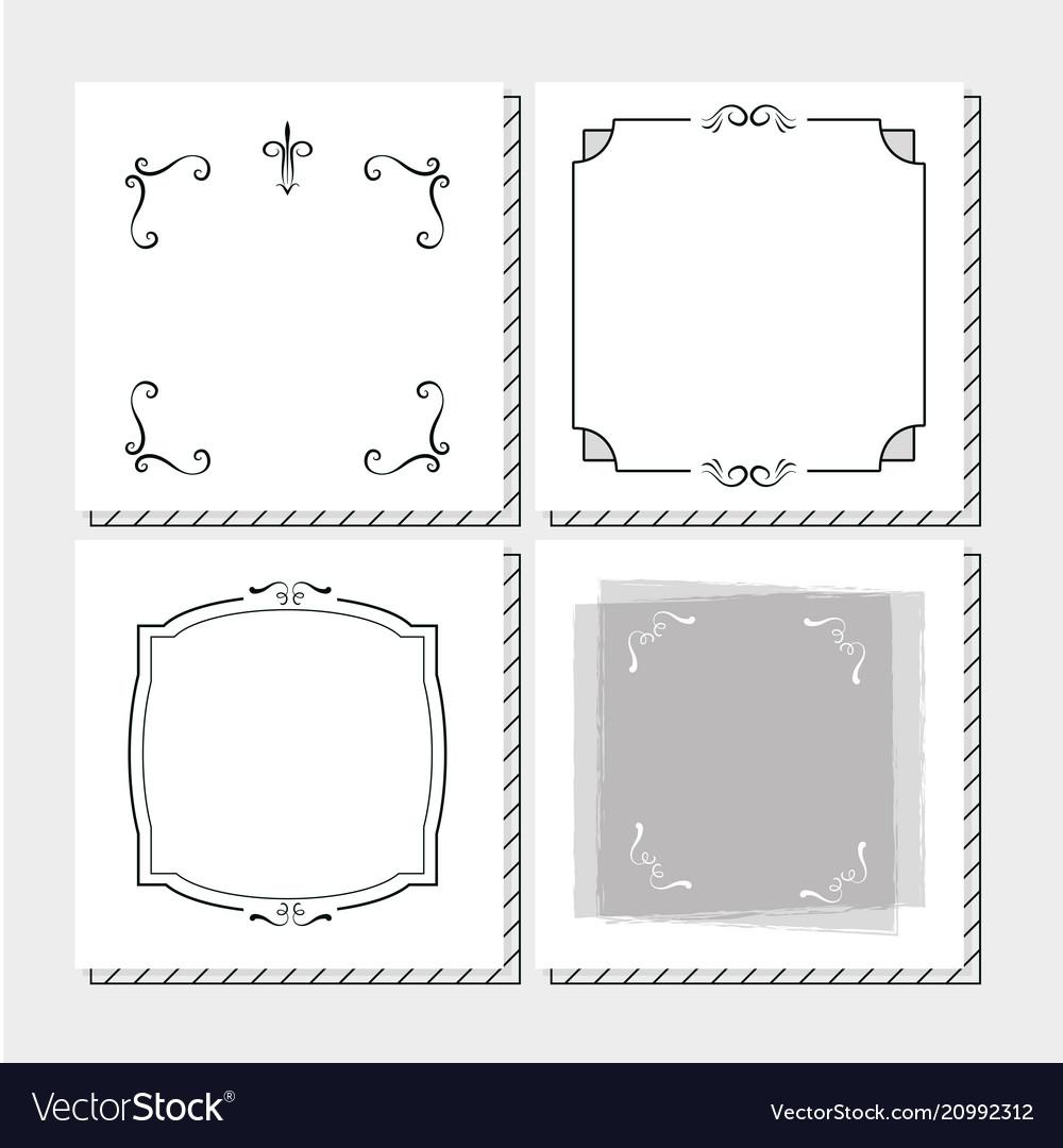 Set of frames hand draw