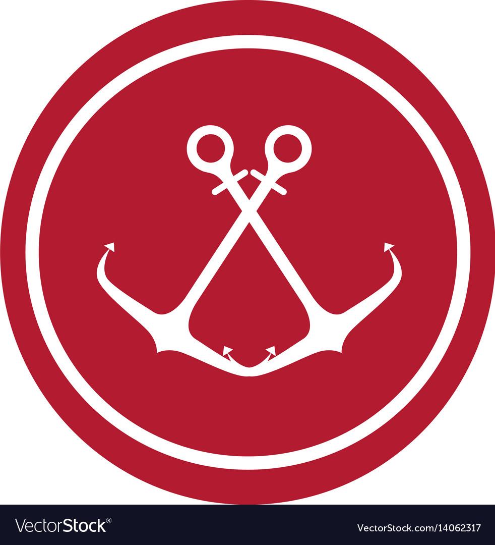 Anchor maritime seal icon