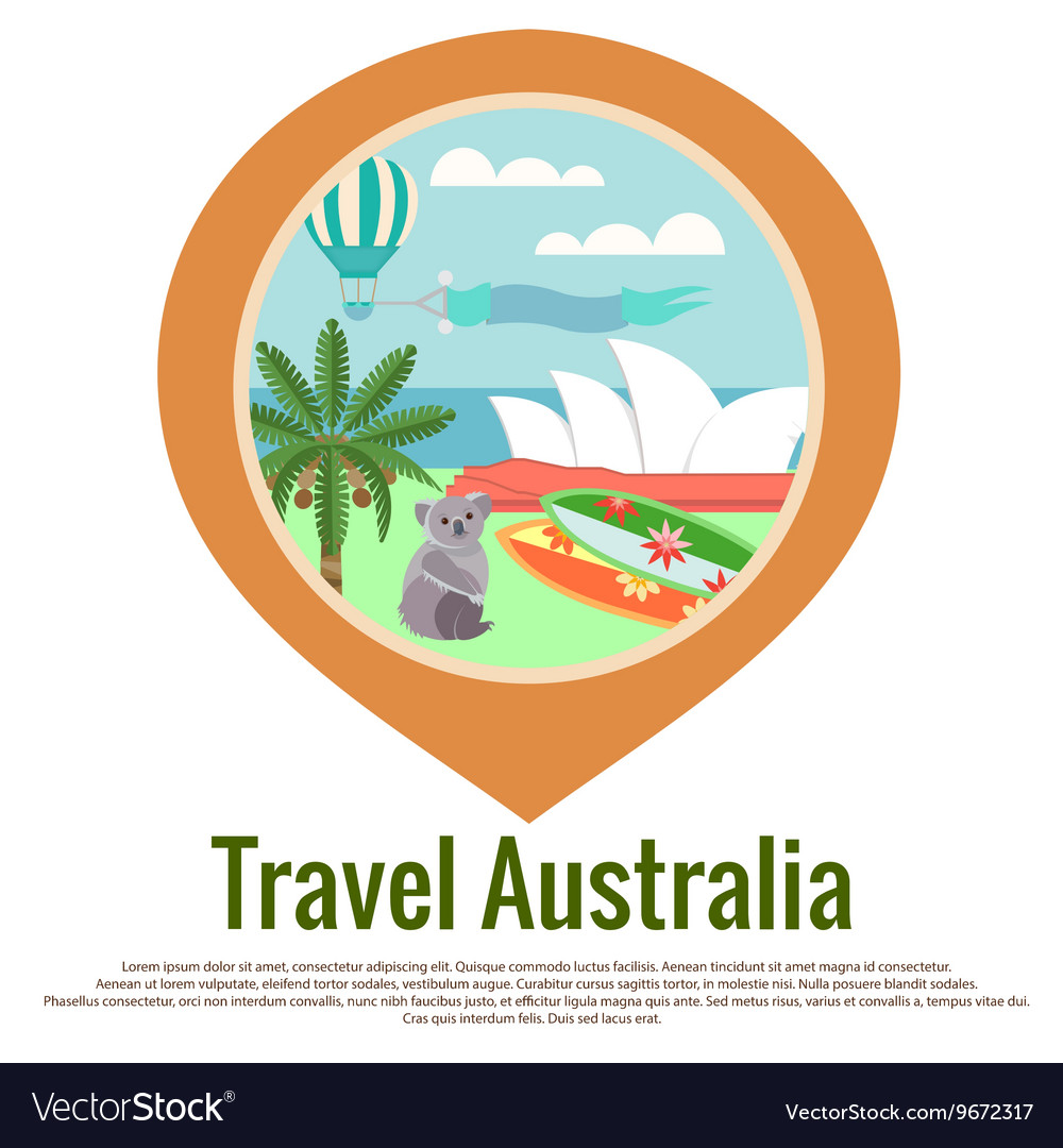 Australia Travel badge