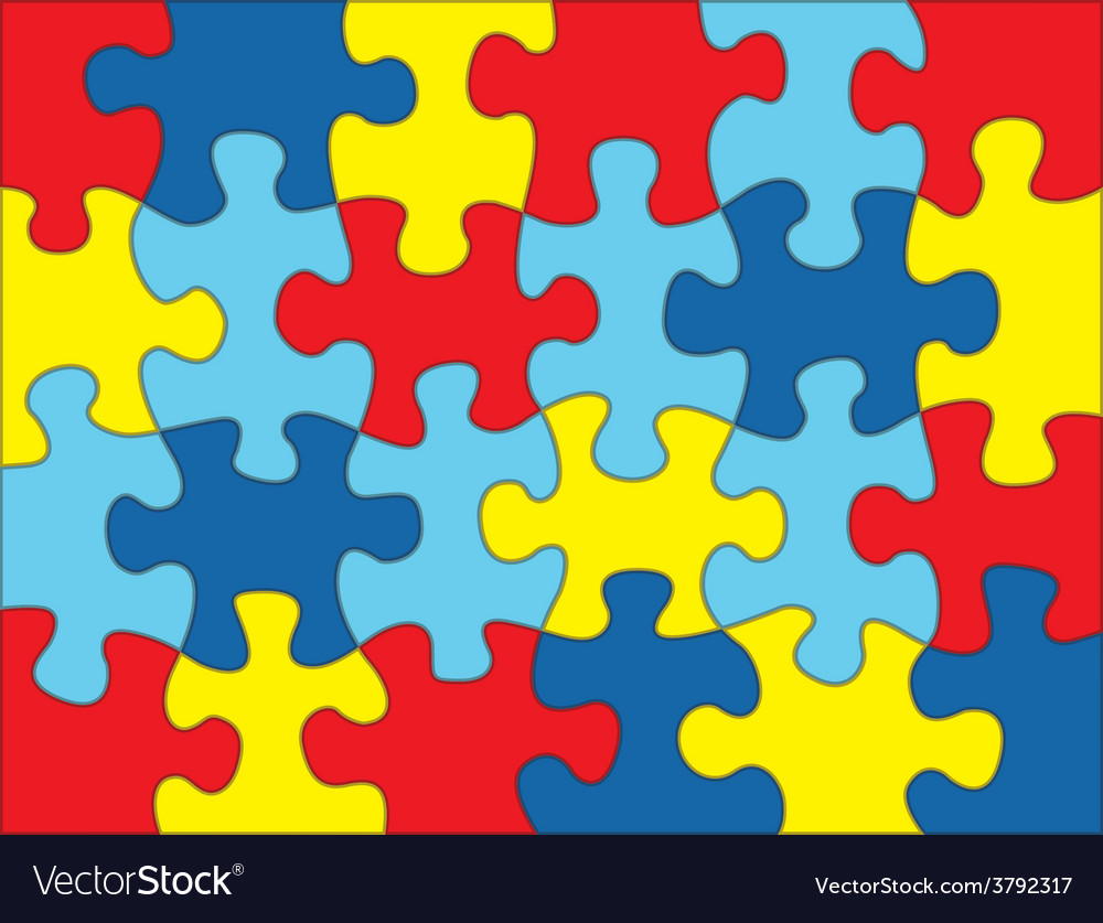 Autism Puzzle Background