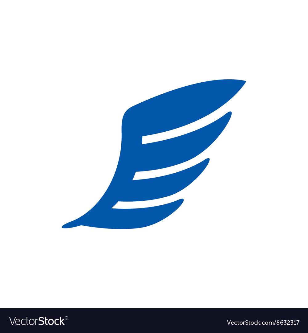 Blue wing icon simple style