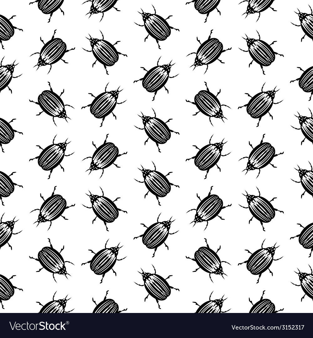 Bug symbol seamless pattern