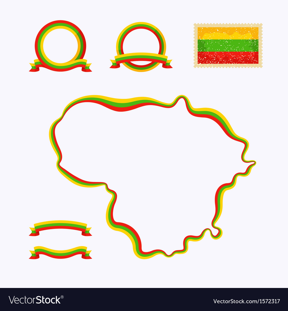 Colors of Lithuania vector image