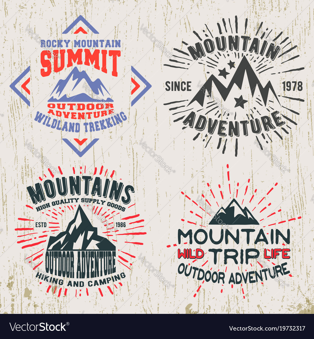 Mountains outdoor adventure t-shirt print