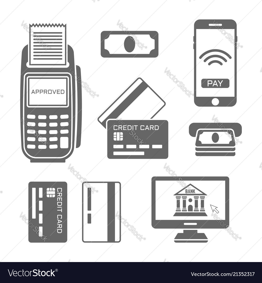 Paymants and banking black icons