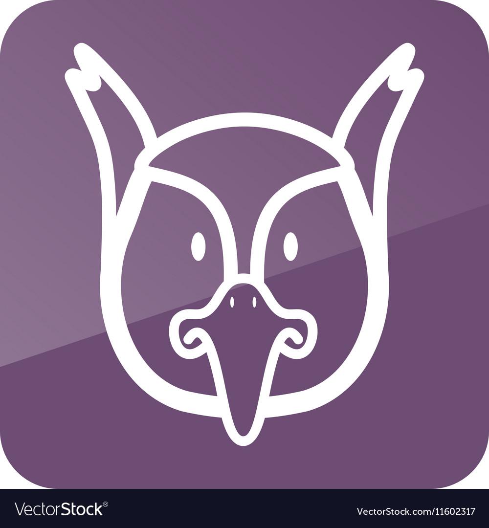 Pheasant icon Animal head