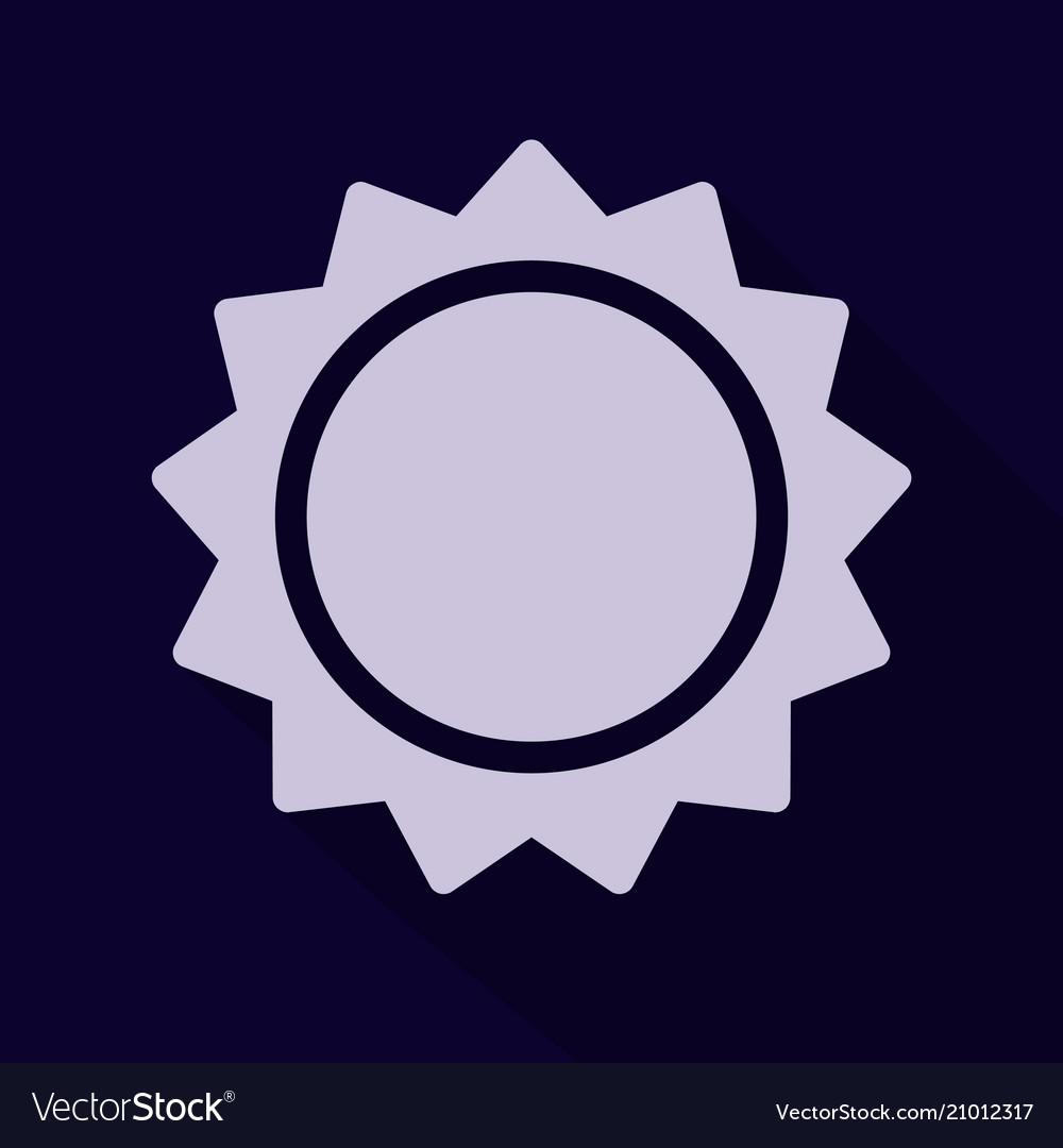 Sun icon trendy summer symbol for website design
