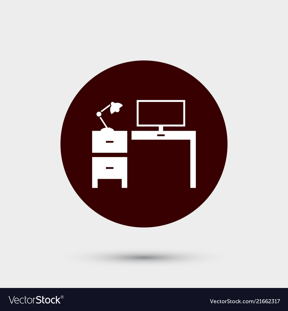 Workplace icon simple office element school