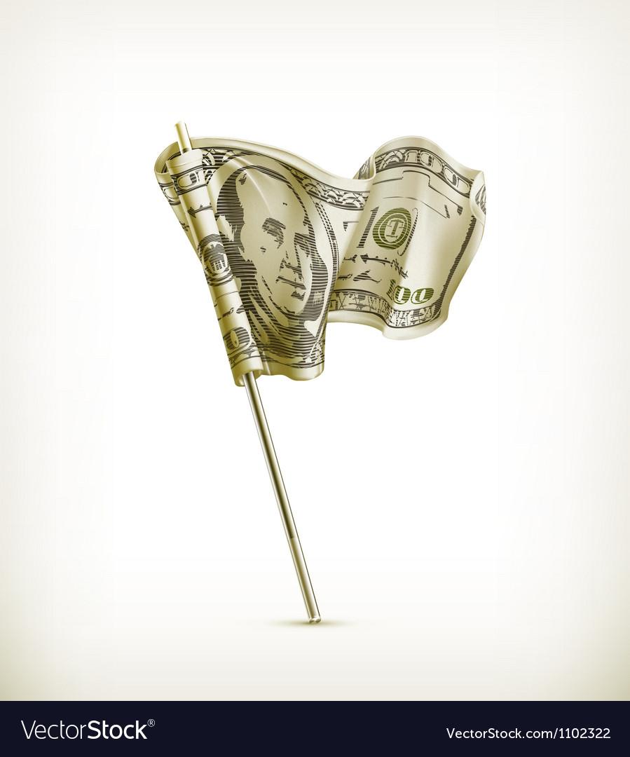 Dollar flag vector image