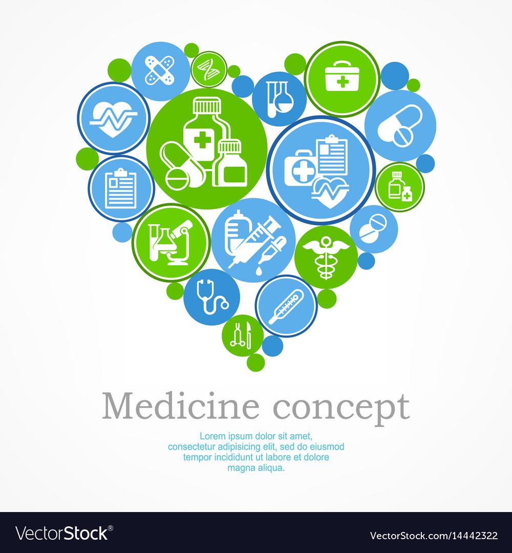 Medical heart concept
