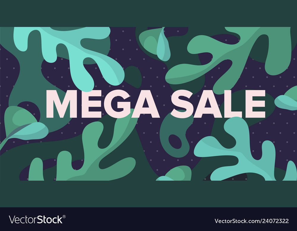 Mega sale banner design template with