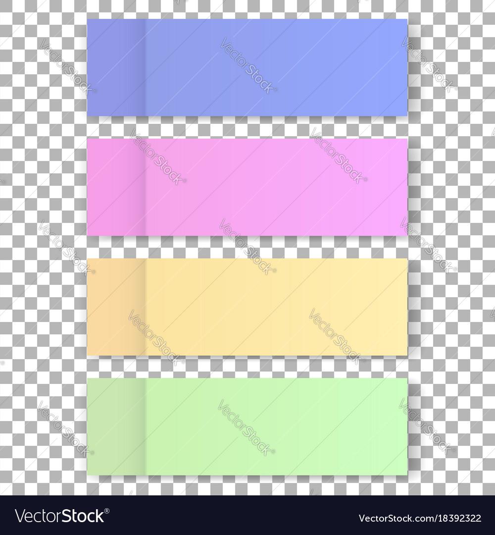 Office color post sticks for design vector image