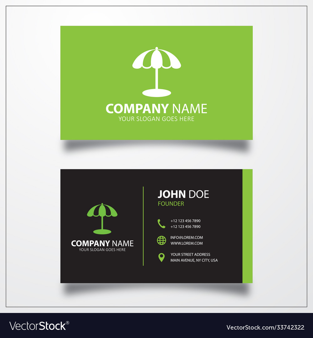 Parasol icon business card template