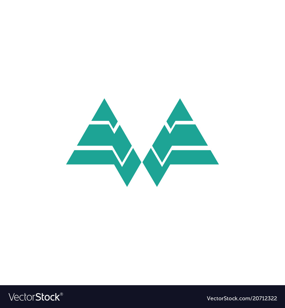 Triangle shape business logo