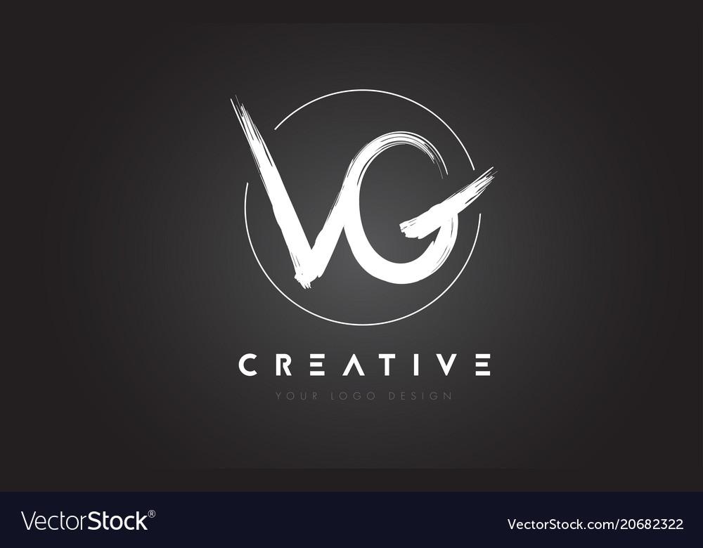Vg brush letter logo design artistic handwritten