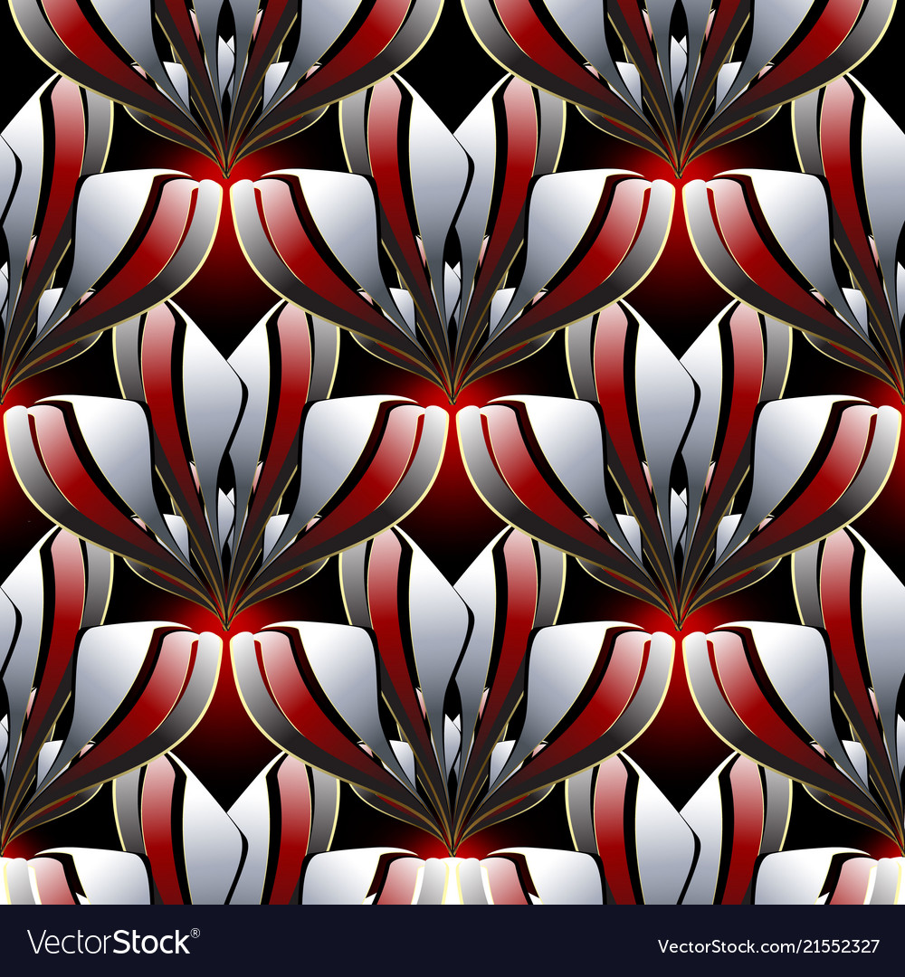 Abstract modern floral seamless pattern