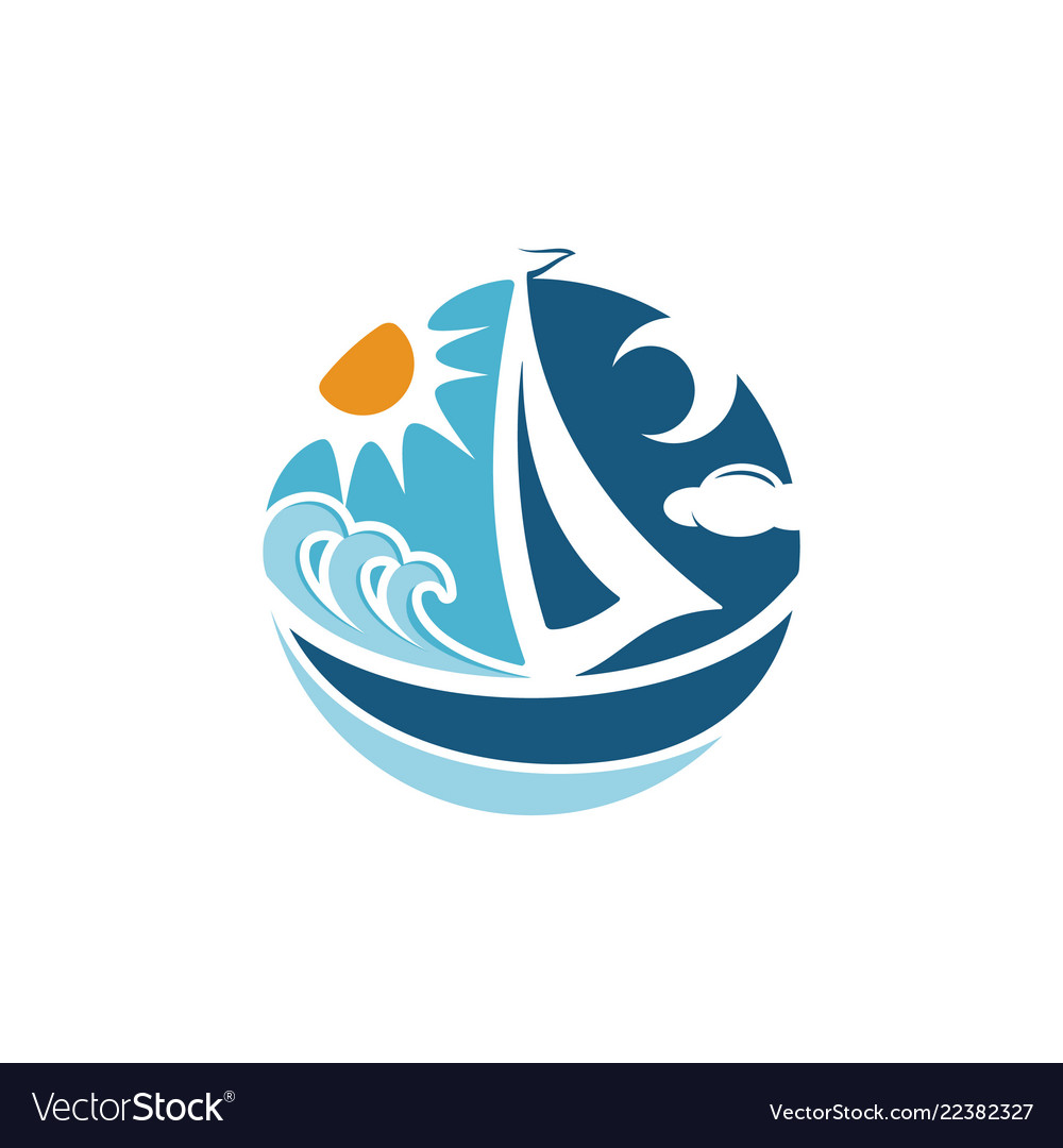 Abstract sailing boat or yatch concept and