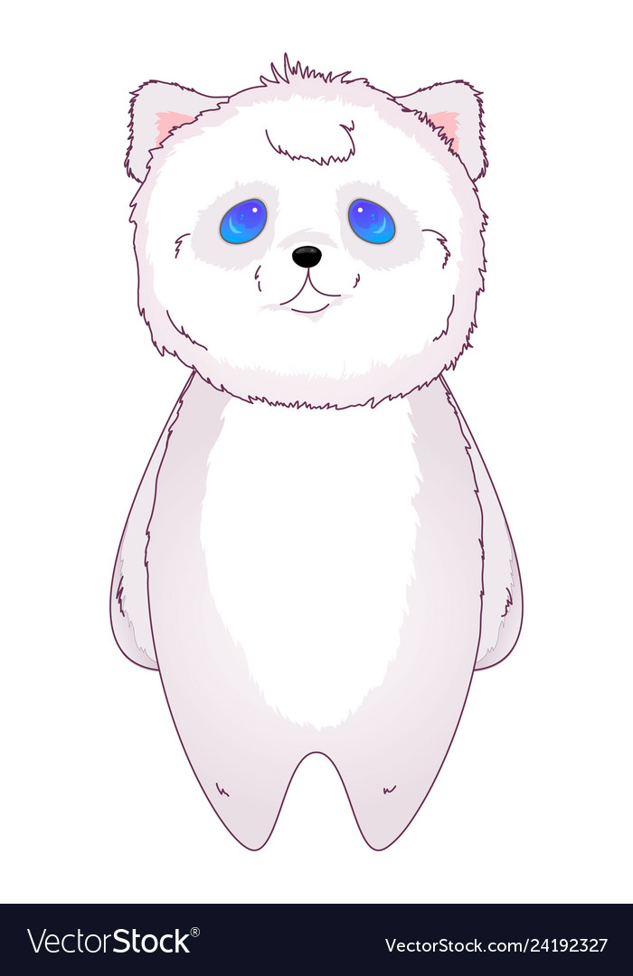 Bear kawaii standing