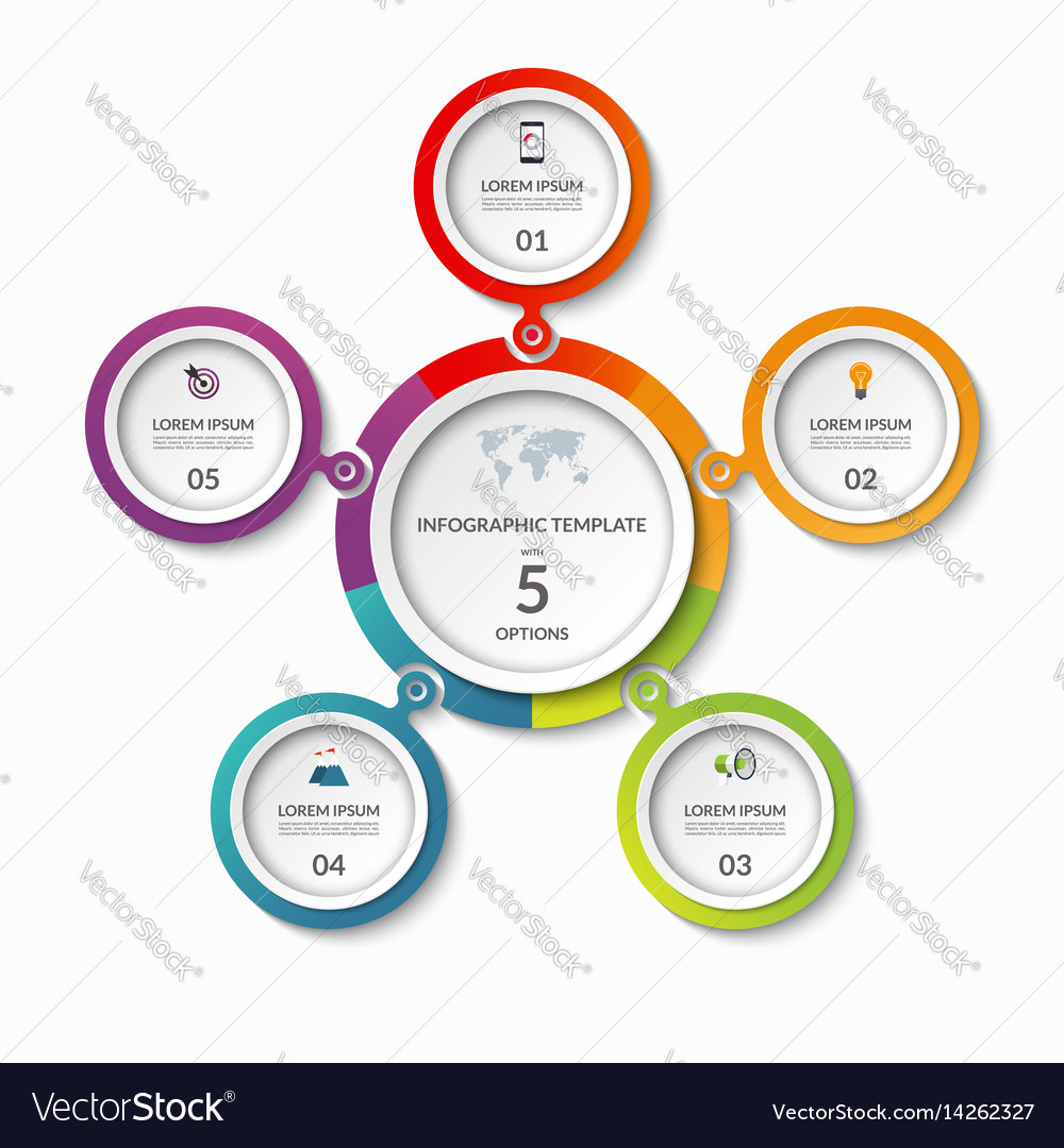Infographic banner with 5 options vector image