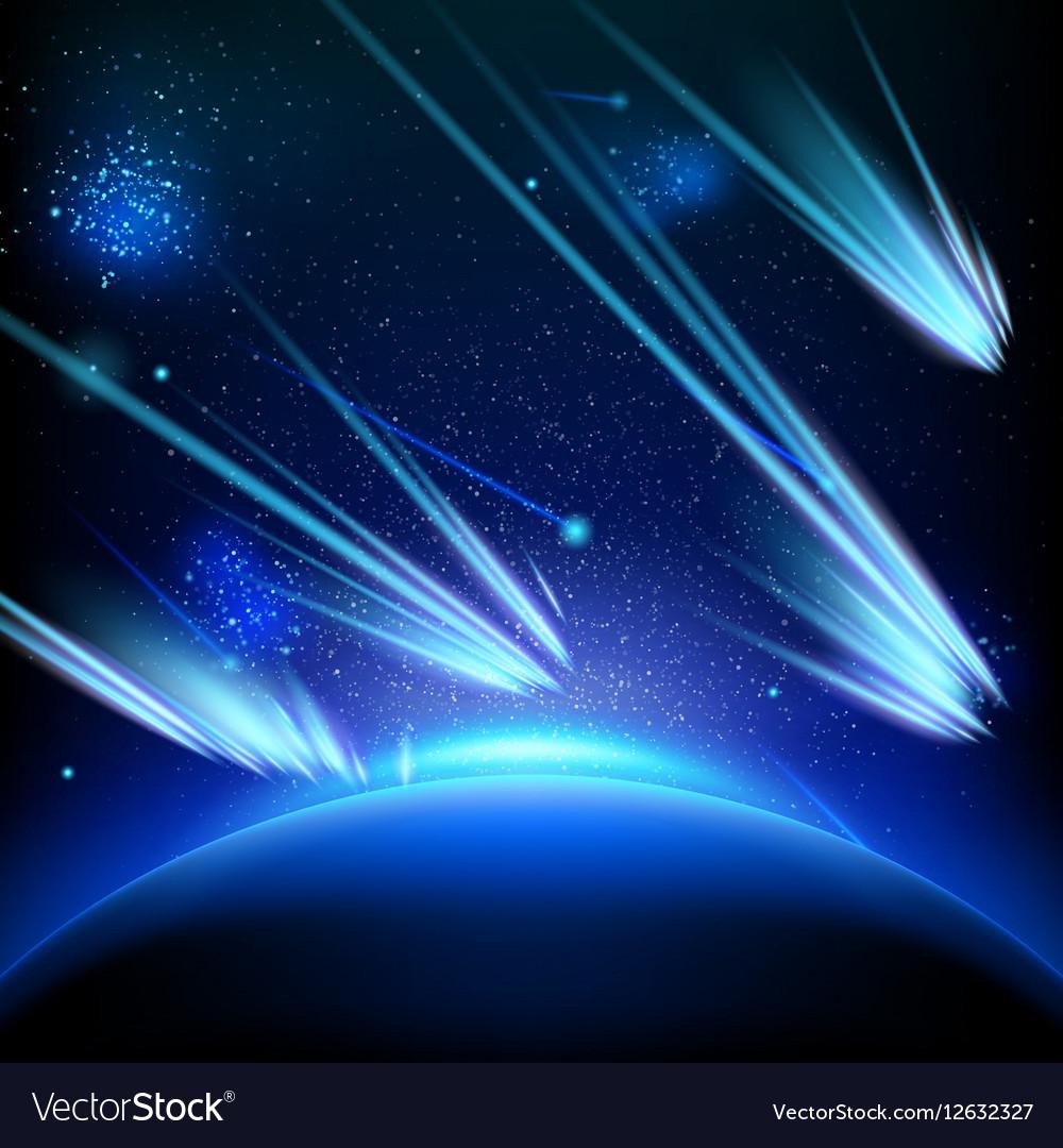 Make a wish on this shooting stars EPS 10 vector image