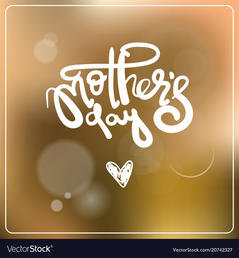 Mothers day lettering over colorful bokeh