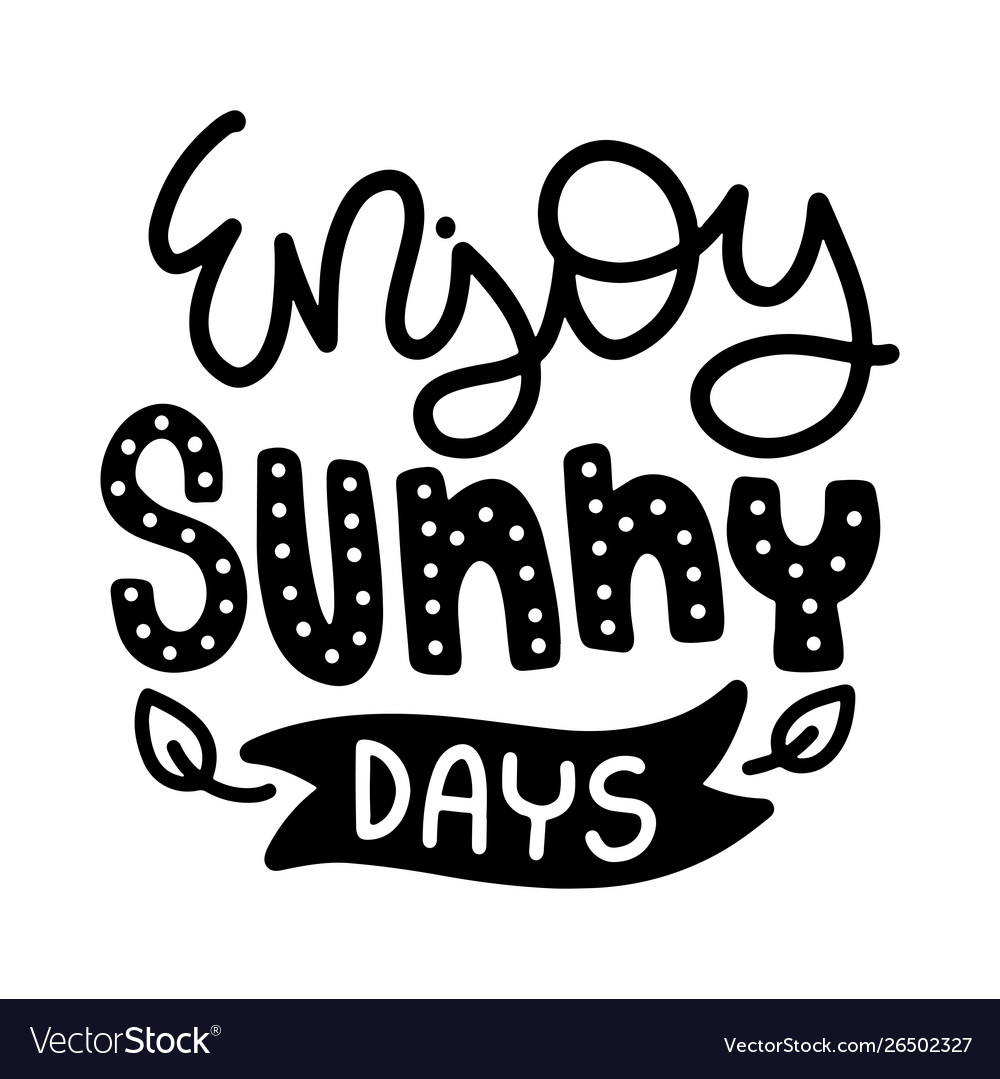 Summer lettering composition with decor