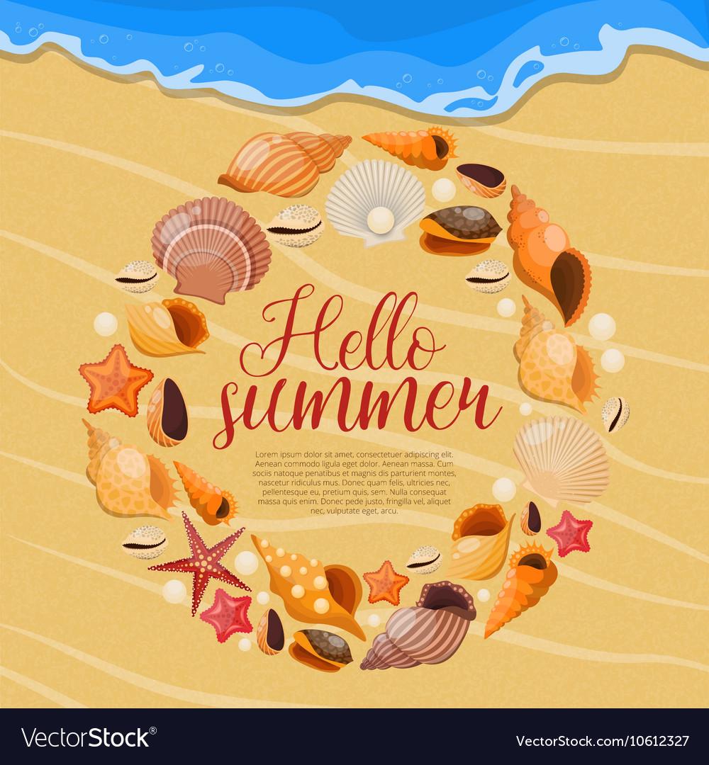 Summer Sea Shells Poster