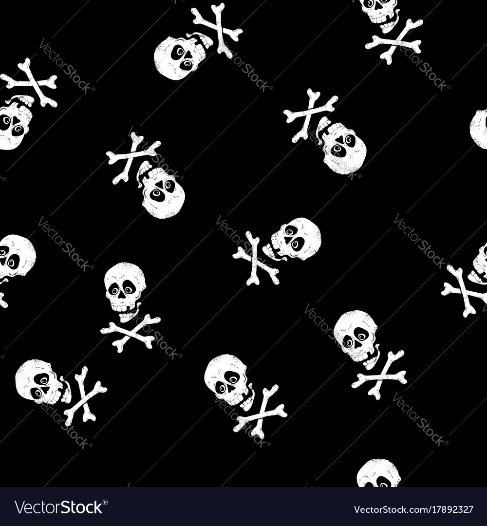 Vintage skulls pattern template for your