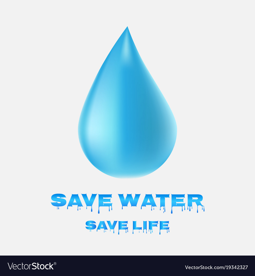 Water drop icon save water save life