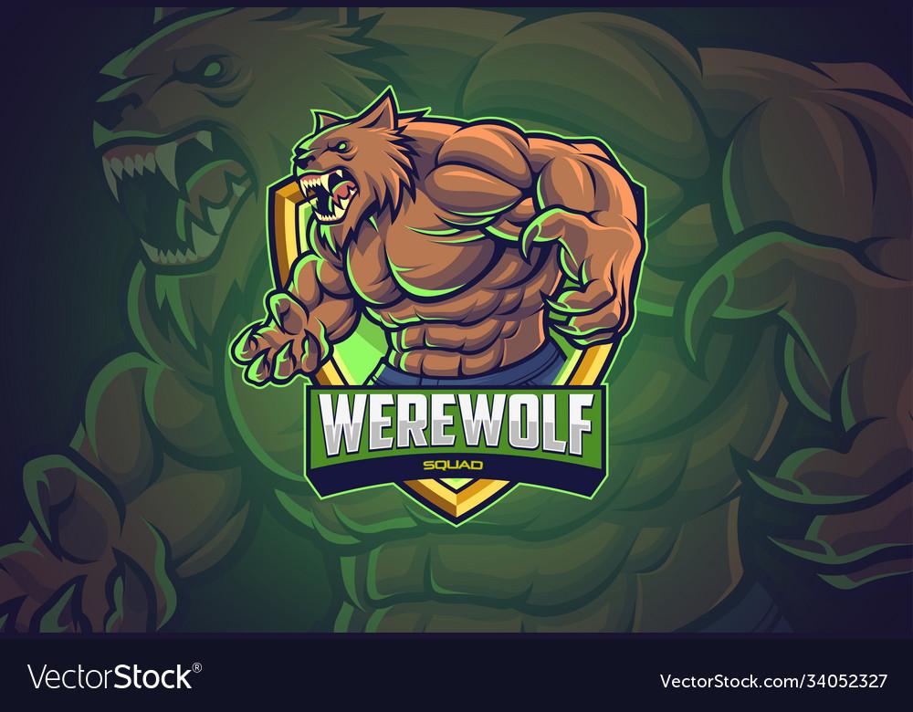 Werewolf esports logo design
