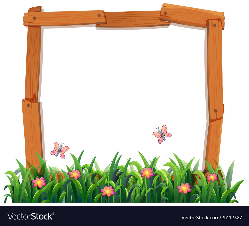 wood nature frame template royalty free vector image vectorstock