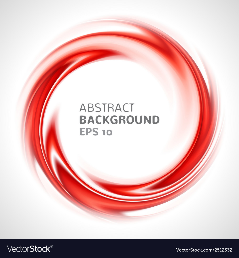 Abstract red swirl circle bright background vector image