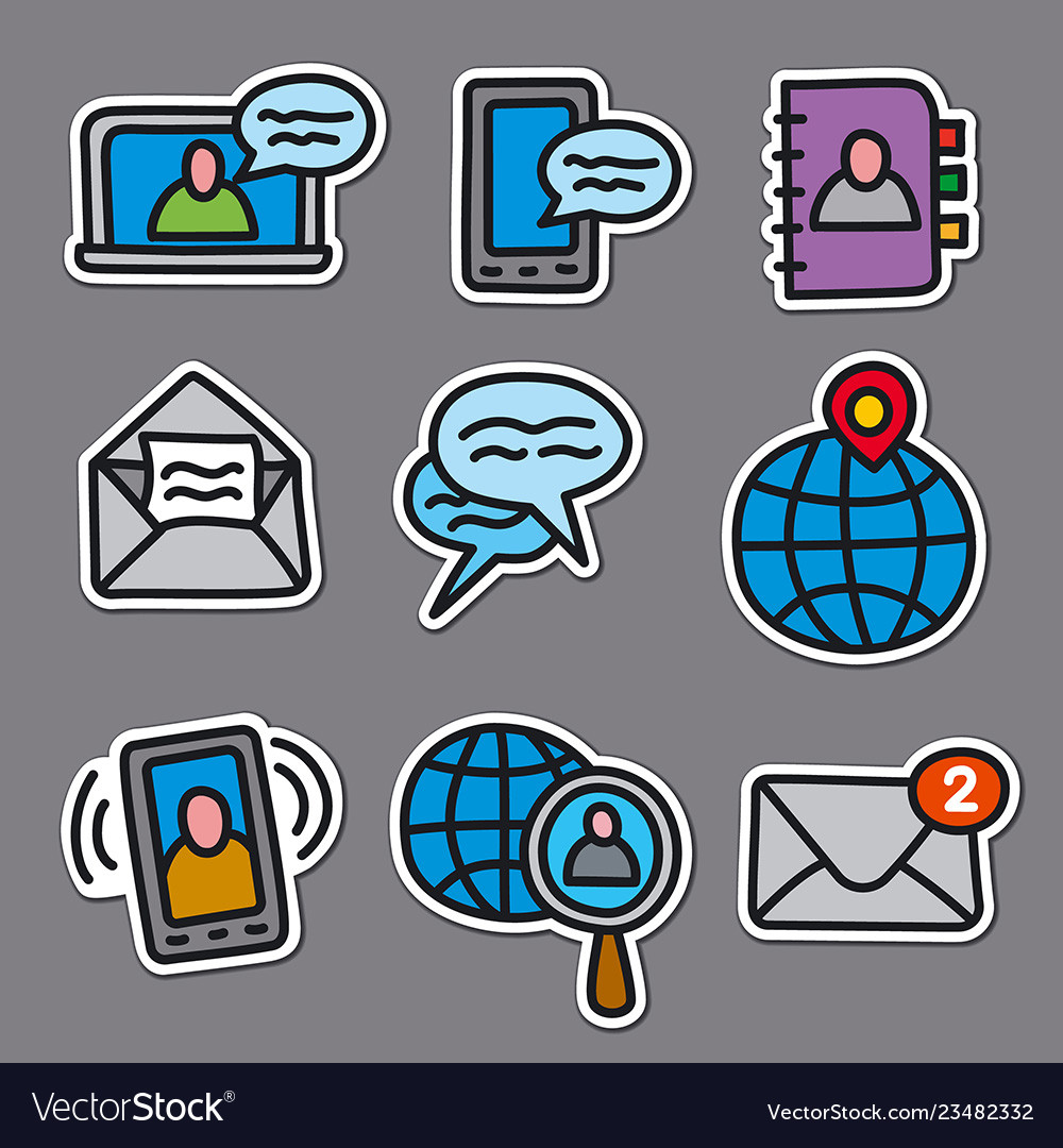 Communication stickers for web