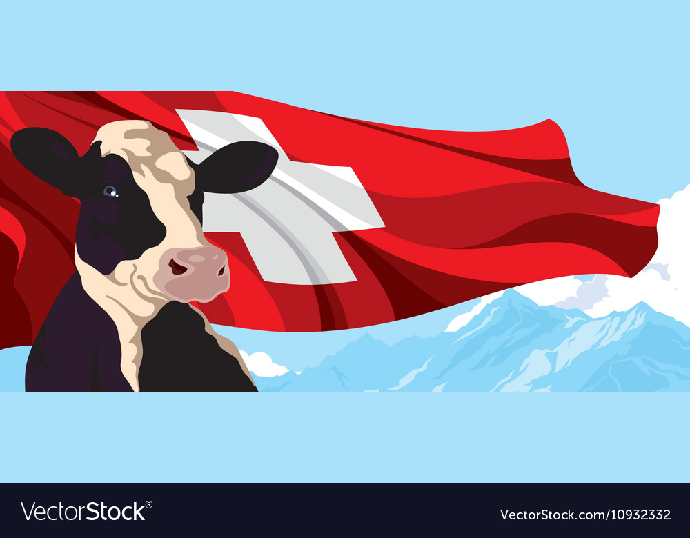 Cow and swiss flag