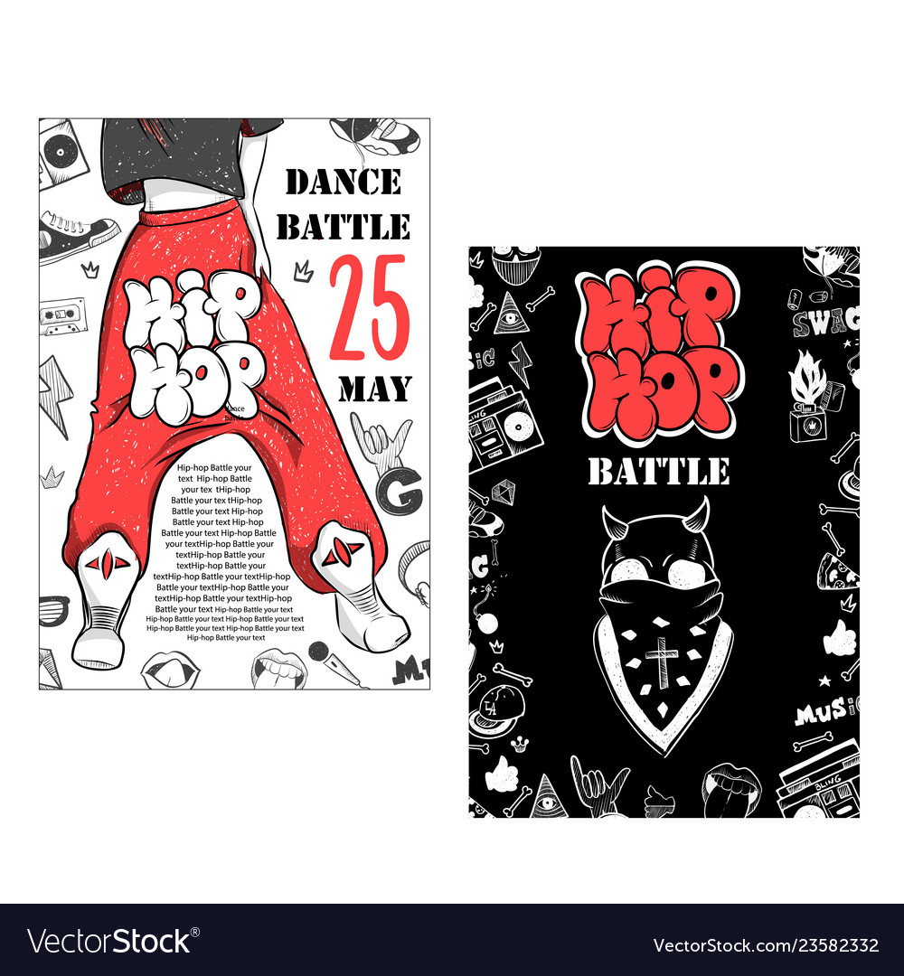 Flyer poster rap battle concert hip-hop music