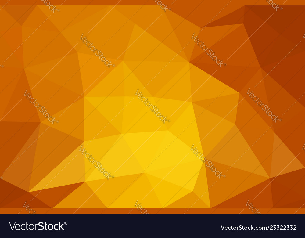 Orange low poly background abstract polygon design