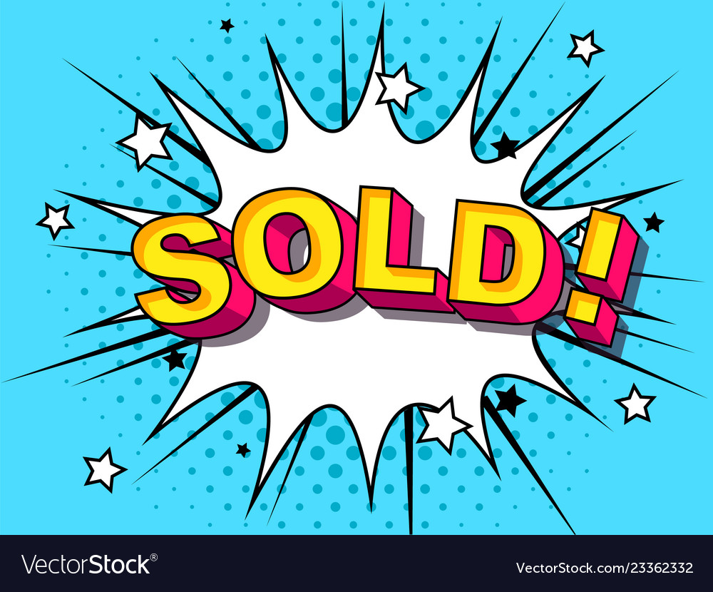 Sold comic cartoon explosions