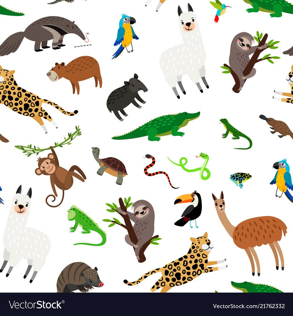 South america animals pattern